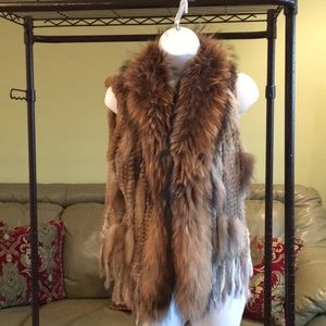 Jackets & Blazers - Rabbit and fox fur vest